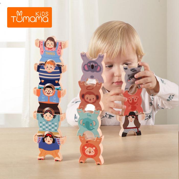Joc intercativ cu figurine, 12 piese, Varsta +3 ani, Tumama®, multicolor [3]