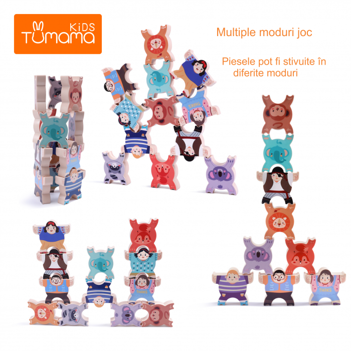 Joc intercativ cu figurine, 12 piese, Varsta +3 ani, Tumama®, multicolor [5]