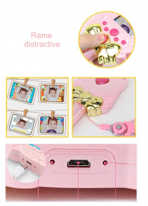 Jucarie aparat foto pentru copii Magic Mirror, Display 2.0 inch, Camera 5 MP, Functie Foto/Video, Focalizare Automata, Smartic®, roz 5
