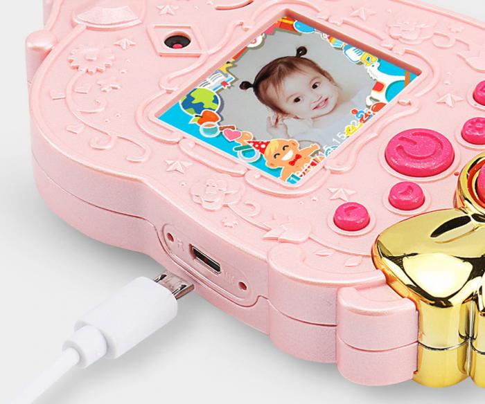 Jucarie aparat foto pentru copii Magic Mirror, Display 2.0 inch, Camera 5 MP, Functie Foto/Video, Focalizare Automata, Smartic®, roz 3