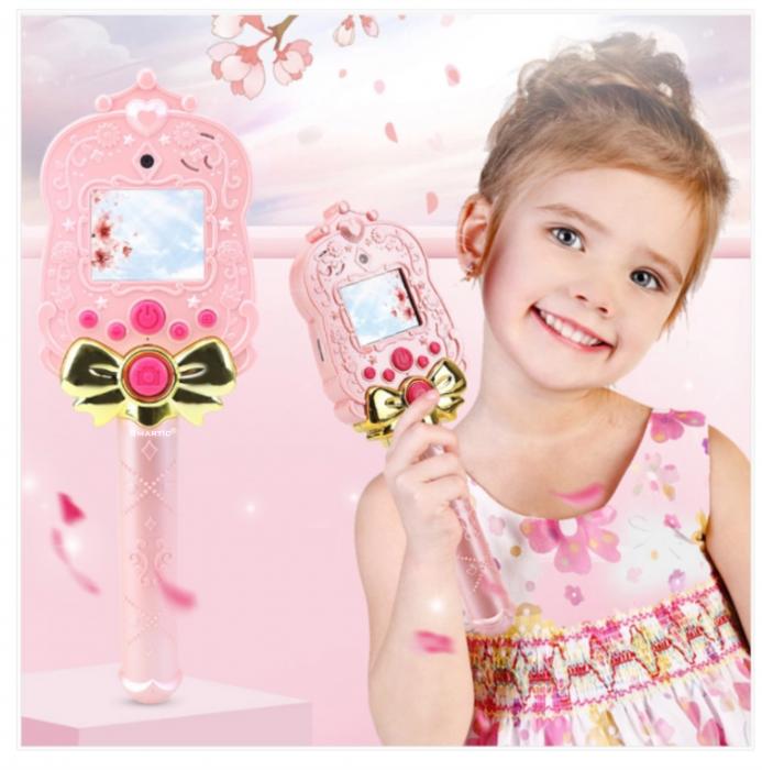 Jucarie aparat foto pentru copii Magic Mirror, Display 2.0 inch, Camera 5 MP, Functie Foto/Video, Focalizare Automata, Smartic®, roz 1