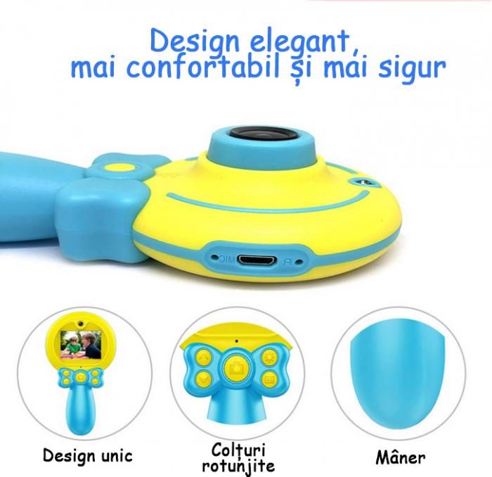 Jucarie aparat foto pentru Copii, SMARTIC®, Magic Mirror, Albastru 6
