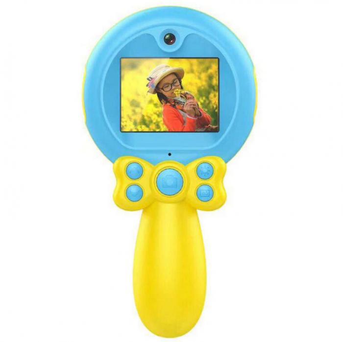 Jucarie aparat foto pentru Copii, SMARTIC®, Magic Mirror, Albastru 2