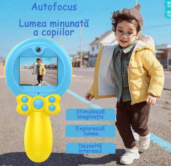 Jucarie aparat foto pentru Copii, SMARTIC®, Magic Mirror, Albastru 7