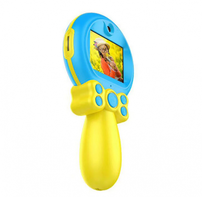 Jucarie aparat foto pentru Copii, SMARTIC®, Magic Mirror, Albastru 9