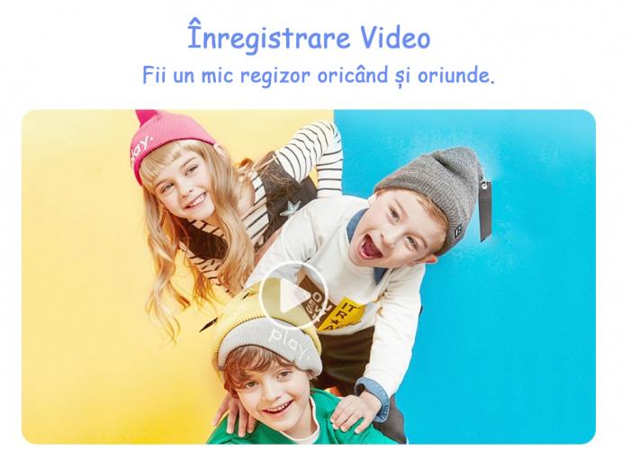 Jucarie aparat foto pentru Copii, SMARTIC®, Magic Mirror, Albastru 5