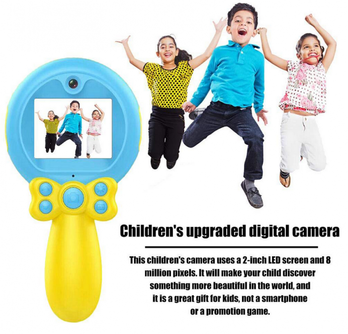 Jucarie aparat foto pentru Copii, SMARTIC®, Magic Mirror, Albastru 8