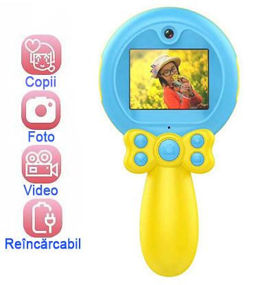 Jucarie aparat foto pentru Copii, SMARTIC®, Magic Mirror, Albastru 1
