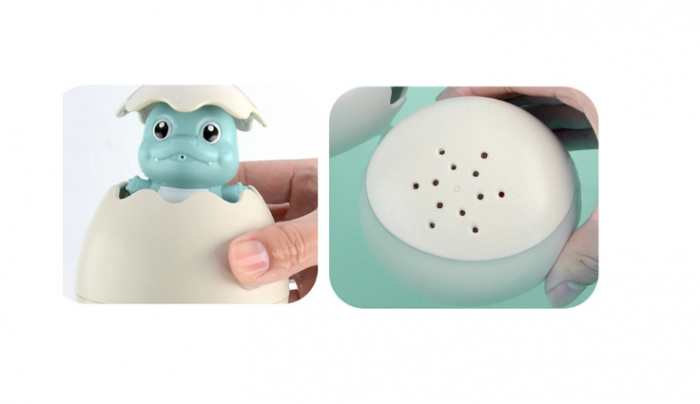 Jucarie de baie educativa si interactiva pentru copii, Dinozaur Cucu-Bau, Smartic®, albastru 3