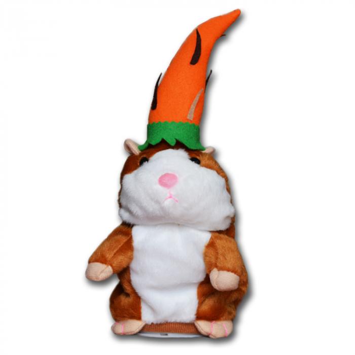 Jucarie Interactiva Copii Hamsterul Vorbitor, Editie de Paste, Maro 3
