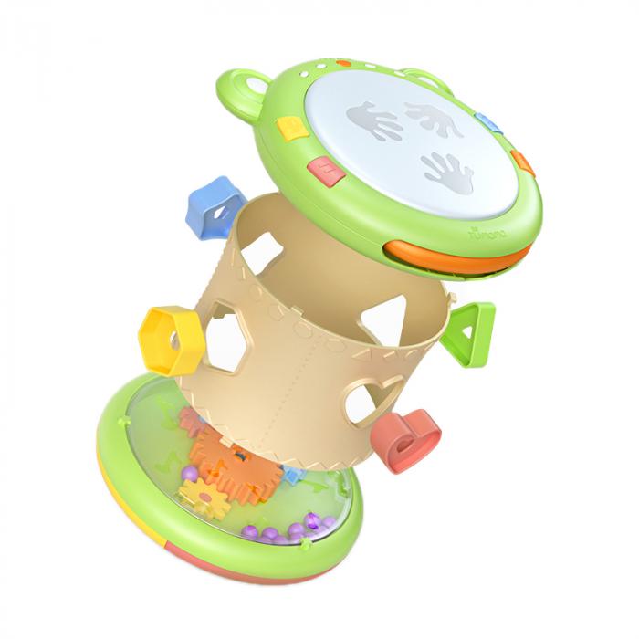 Jucarie interactiva 3in1 cu toba, cub educativ si labirint, pentru copii si bebelusi, Tumama 0