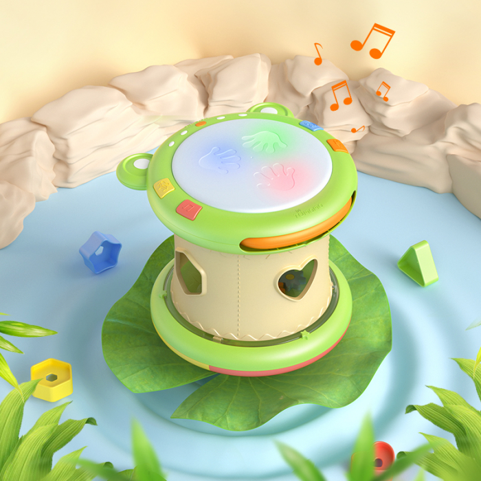 Jucarie interactiva 3in1 cu toba, cub educativ si labirint, pentru copii si bebelusi, Tumama 5