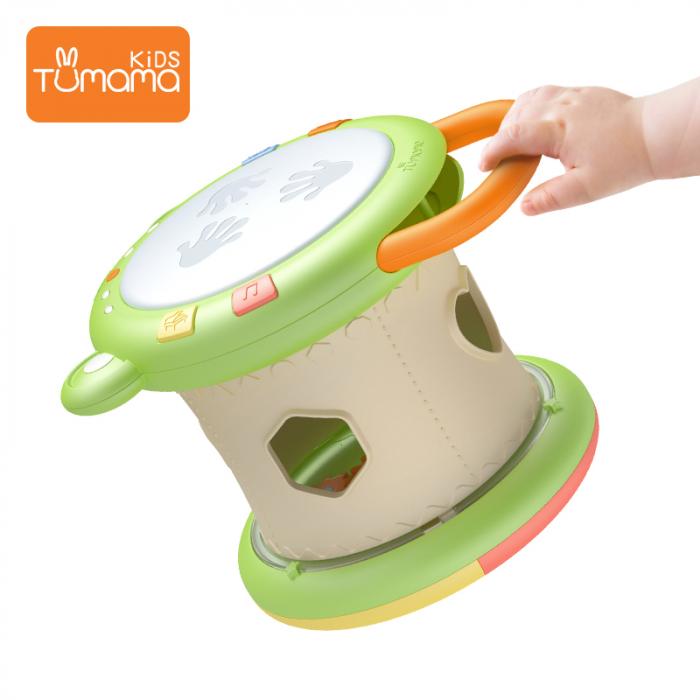 Jucarie interactiva 3in1 cu toba, cub educativ si labirint, pentru copii si bebelusi, Tumama 4