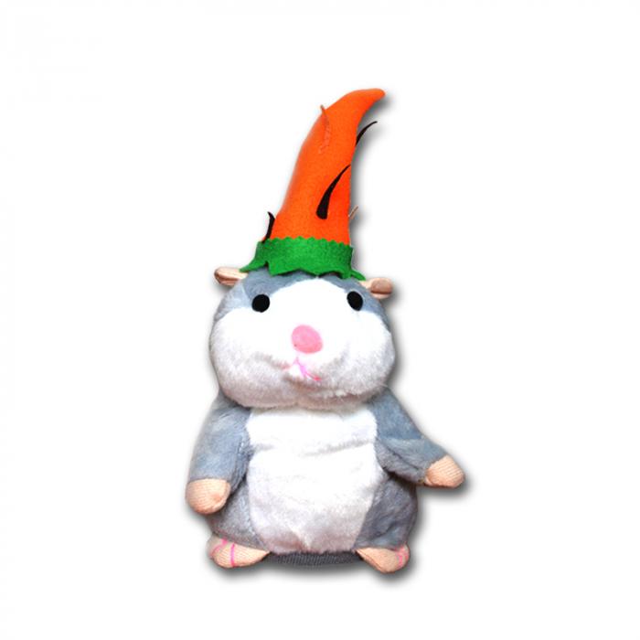 Jucarie Interactiva Copii Hamsterul Vorbitor, Editie de Paste, Gri [4]