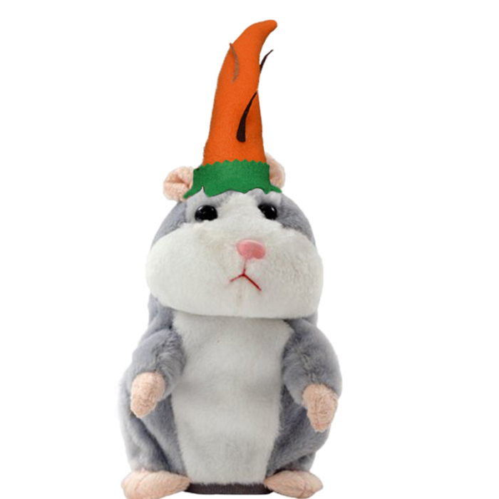 Jucarie Interactiva Copii Hamsterul Vorbitor, Editie de Paste, Gri [3]