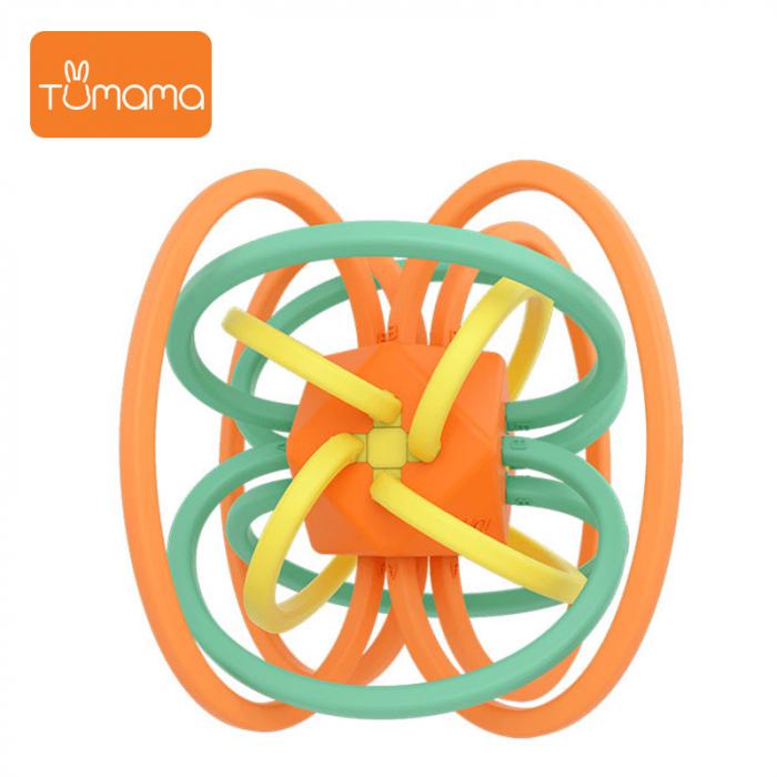 Jucarie Interactiva Educationala Zornaitoare pentru bebelusi, Design Labirint din Silicon, varsta + 3 luni, Tumama®, multicolor [1]