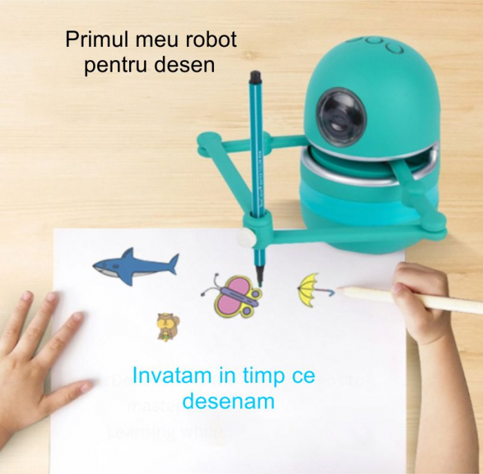 Jucarie Interactiva Electronica Robotelul Inteligent Quincy, SMARTIC®, verde 9