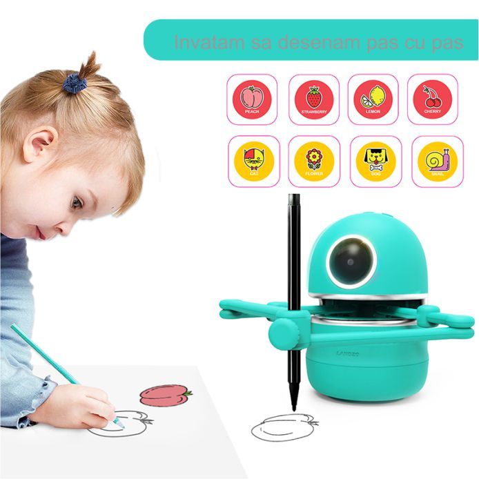 Jucarie Interactiva Electronica Robotelul Inteligent Quincy, SMARTIC®, verde 2