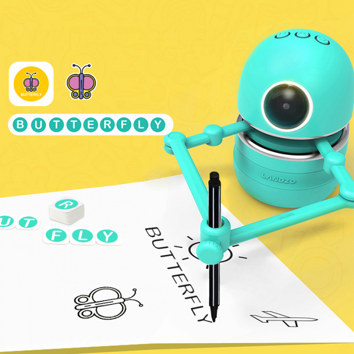 Jucarie Interactiva Electronica Robotelul Inteligent Quincy, SMARTIC®, verde 4