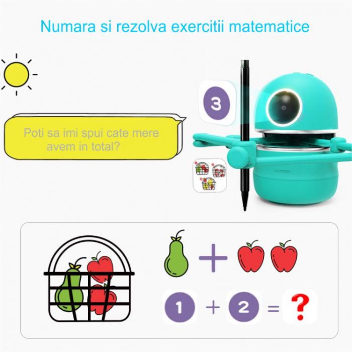Jucarie Interactiva Electronica Robotelul Inteligent Quincy, SMARTIC®, verde 1