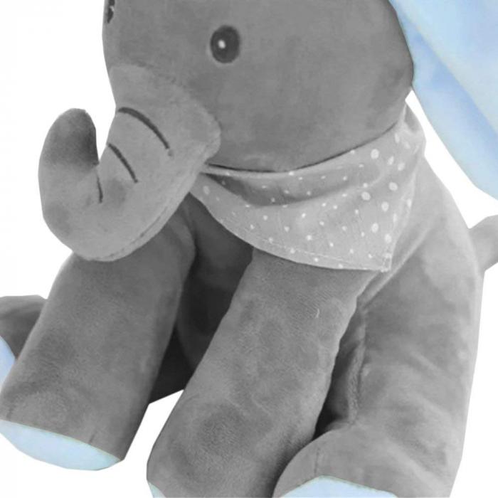 Jucarie interactiva Elefant Cucu Bau, Peek a Boo - canta si vorbeste in Limba ROMANA 3