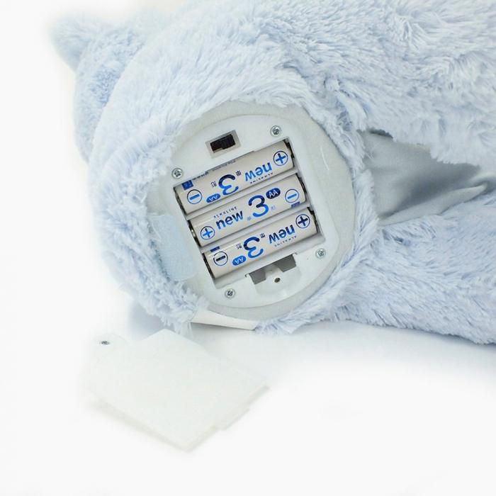Jucarie interactiva, Ursulet de plus Cucu Bau, Peek a Boo, vorbeste in Limba Romana, Smartic®, albastru [8]