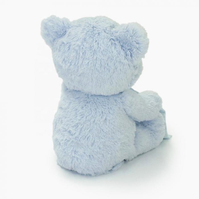 Jucarie interactiva, Ursulet de plus Cucu Bau, Peek a Boo, vorbeste in Limba Romana, Smartic®, albastru [6]