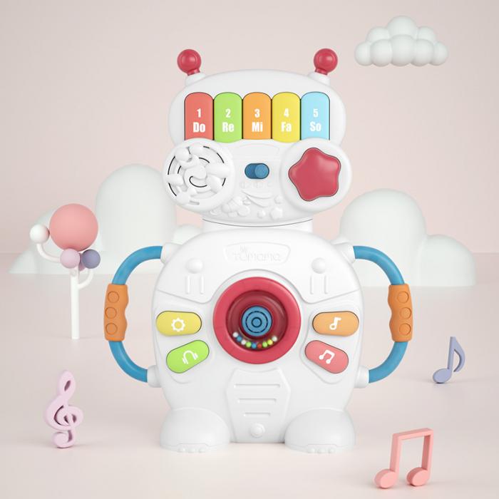 Jucarie muzicala educativa Robotelul Magic Tumama®, pentru copii si bebelusi 4