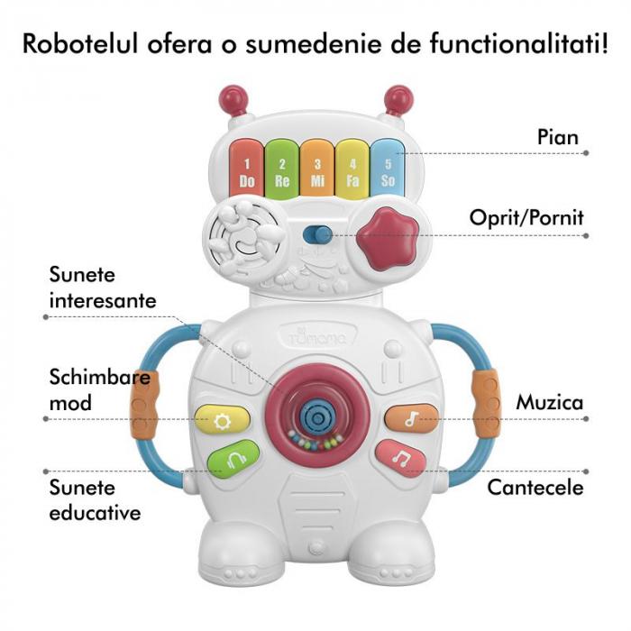Jucarie muzicala educativa Robotelul Magic Tumama®, pentru copii si bebelusi 1