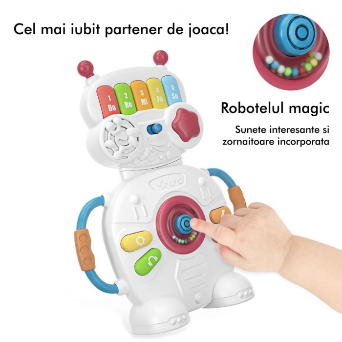 Jucarie muzicala educativa Robotelul Magic Tumama®, pentru copii si bebelusi 6