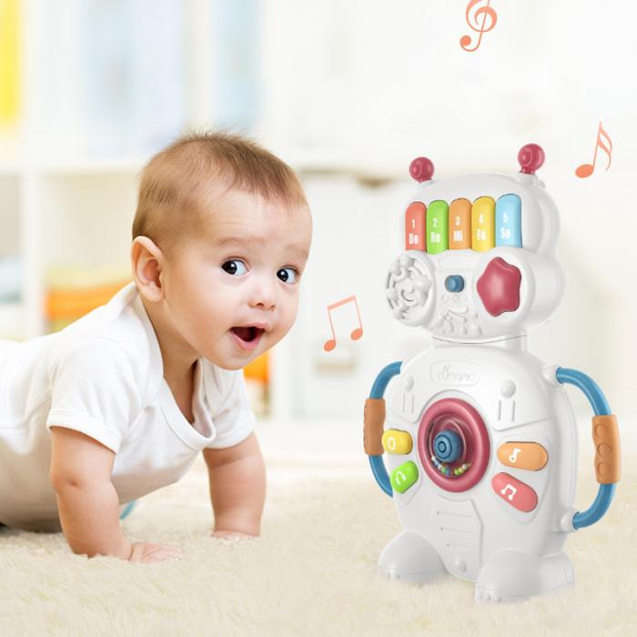 Jucarie muzicala educativa Robotelul Magic Tumama®, pentru copii si bebelusi 3