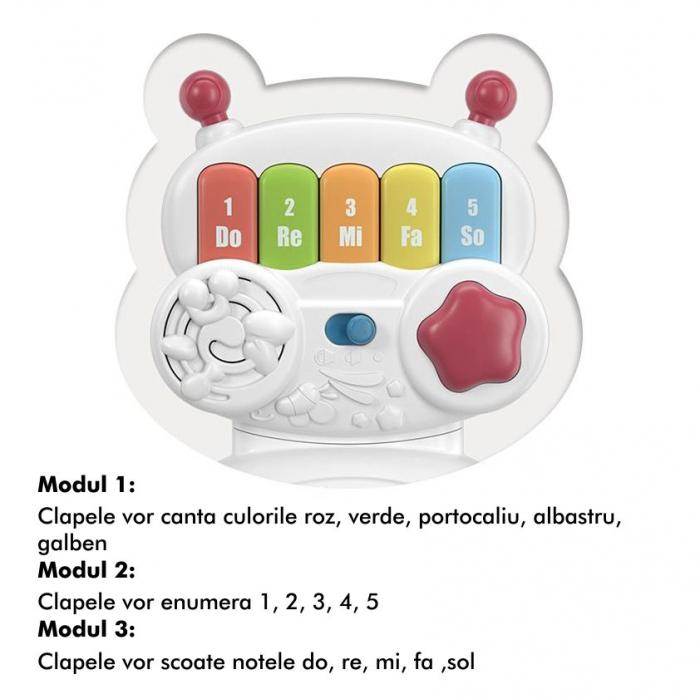 Jucarie muzicala educativa Robotelul Magic Tumama®, pentru copii si bebelusi 7