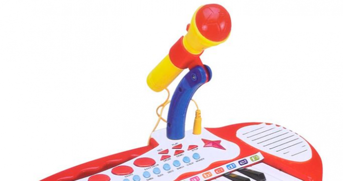 Jucarie orga cu karaoke, microfon si scaun incluse SMARTIC® 1