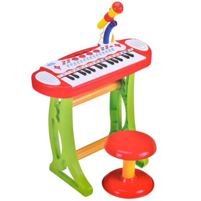 Jucarie orga cu karaoke, microfon si scaun incluse SMARTIC® 0
