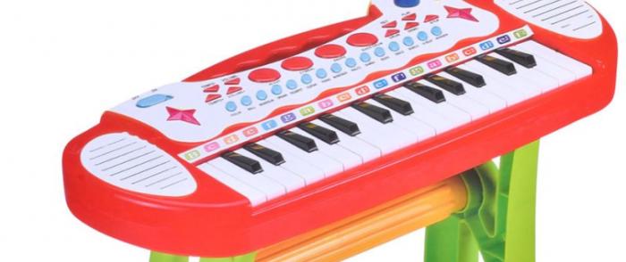 Jucarie orga cu karaoke, microfon si scaun incluse SMARTIC® 3