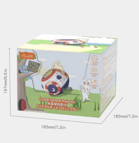 Lampa de veghe Minge Magica  Tumama® interactiva, cu proiector stelute, variatii de culori, sunete, 14x18 cm, multicolor 9