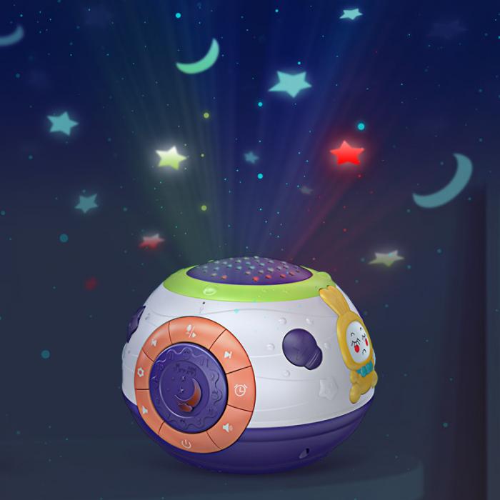 Lampa de veghe Minge Magica  Tumama® interactiva, cu proiector stelute, variatii de culori, sunete, 14x18 cm, multicolor 8