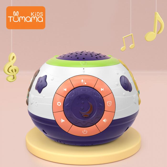 Lampa de veghe Minge Magica  Tumama® interactiva, cu proiector stelute, variatii de culori, sunete, 14x18 cm, multicolor 1