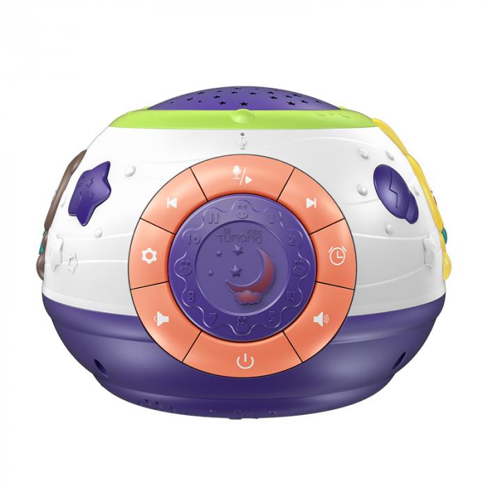 Lampa de veghe Minge Magica  Tumama® interactiva, cu proiector stelute, variatii de culori, sunete, 14x18 cm, multicolor 0