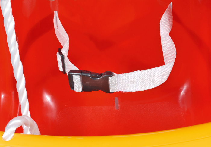 Leagan pentru copii Smartic, cu cadru metalic si sistem de siguranta, rosu/galben [1]