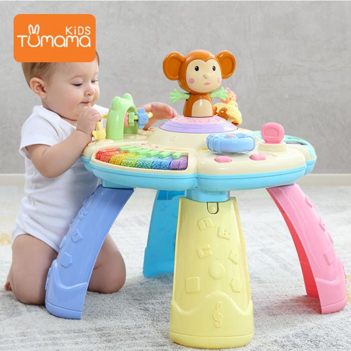 Masa muzicala educativa Maimutica vesela Tumama®, pentru copii de 0-3 ani 5