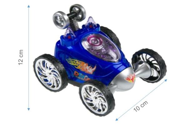 Masina pentru copii cu telecomanda, rotatie 360ᵒ, 6 roti, Smartic, 12x10x9 cm, albastru 1