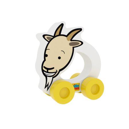 Masinuta interactiva, ecologica pentru bebelusi,din spuma moale cu imprimeu Caprita 0