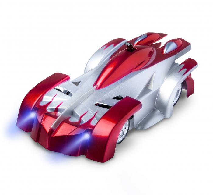 Masinuta Magic Car, Smartic, urca pe tavan, perete, fereastra si podea, +3 ani, rosu 0