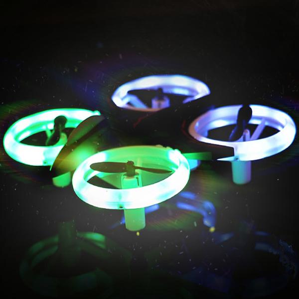 Mini drona cu semnale luminoase LED, Functii 3D , Mentinerea altitudinii si telecomanda 3