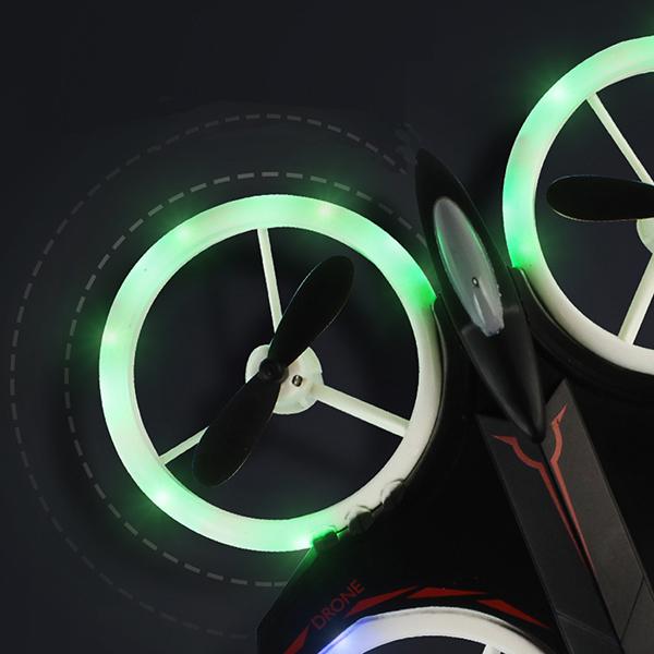 Mini drona cu semnale luminoase LED, Functii 3D , Mentinerea altitudinii si telecomanda [4]