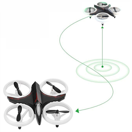 Mini drona cu semnale luminoase LED, Functii 3D , Mentinerea altitudinii si telecomanda 1