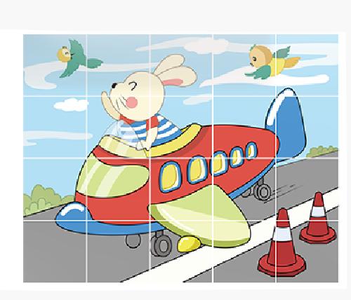 Puzzle Educational 2 in 1 Tumama® pentru bebelusi si copii, Material Carton, cu Animale si Masini, Varsta 0-3 ani,  40 piese, multicolor [6]