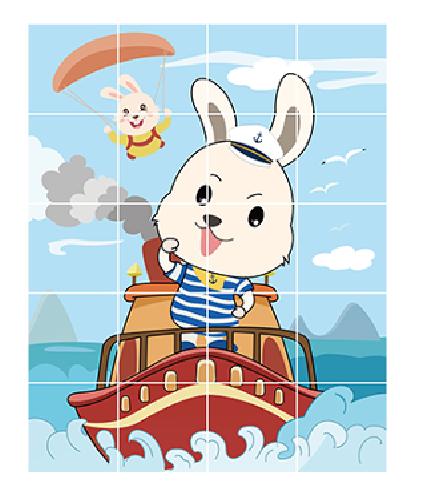 Puzzle Educational 2 in 1 Tumama® pentru bebelusi si copii, Material Carton, cu Animale si Masini, Varsta 0-3 ani,  40 piese, multicolor [4]