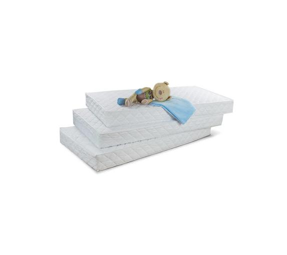Saltea pentru bebelusi Fibra de Cocos si Burete Poliuretanic, Husa Microfibra Lavabila si Antialergica 110x65x7cm, Alb [6]